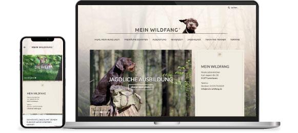 Responsives Webdesign für die Hundeschule Mein Wildfang Nicole Lützenkirchen