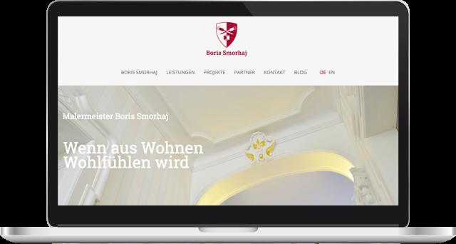 Webseite Malermeister Smorhaj Rösrath