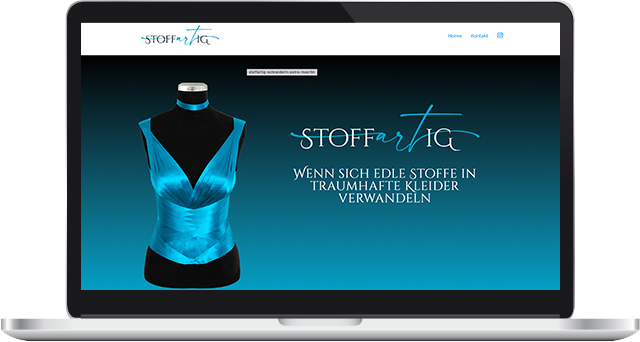 Wordpress Webdesign stoffartig Petra Maertin