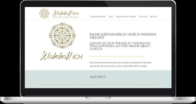 Wordpress Webseite Onepager Heilpraktikerin Heike Richatz-Weiler